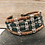Thumbnail: Printed Portuguese Cork Strand Bracelet With Basket Weave Silver  Sliders