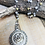Thumbnail: Beige Rose Pendant with Pearl Beads and Rosary Chain