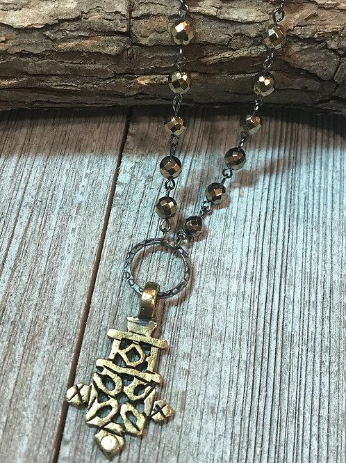 Ethiopian Coptic Cross Pendant Necklace