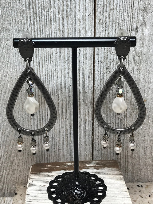 Chandelier Gunmetal Earrings