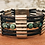Thumbnail: Antique Silver Bar Bracelet  with African Turquoise Beads