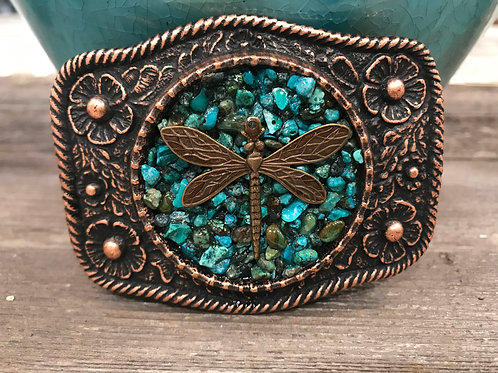 Copper Turquoise dragonfly buckle