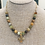 Thumbnail: Flower Jade Faceted Bead and Gold Cross necklace