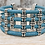 Thumbnail: Baby Blue Portuguese Cork Bracelet with Multi Silver Sliders