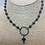 Thumbnail: Brass Ring with Pyrite Cross on Pyrite Rosary Chain Necklace