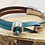 Thumbnail: Silver Hook Blue Leather and Crystal Bracelet
