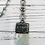 Thumbnail: Amazonite Soldered Pendant with Black/Gold Rosary Chain