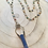 Thumbnail: Lapis CylindricalWedge Pendant with Multi Bead Chain