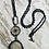 Thumbnail: Soldered Glass Daisy Connector with Coin, Crocheted Chain, & Carbiner