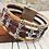 Thumbnail: Multi strand Violet and Fleck Portuguese Cork Bracelet