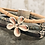 Thumbnail: Silver  Flower Slider with Multi Strand Portuguese Cork Strands