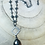 Thumbnail: Pyrite Drop Necklace with Saturn Chain