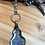 Thumbnail: Mirror Glass Pendant with Snakeskin Jasper Rosary Chain