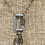 Thumbnail: Square Pave Carabiner Clasp with Soldered Crystal Drop