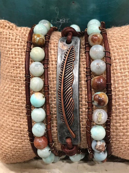 Wrap Bracelet with Feather connector