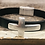 Thumbnail: Men's Leather Cross Bracelet with Magnetic Closure