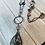 Thumbnail: Rhodonite necklace with pyrite and pink rhodonite beads