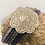Thumbnail: Multi leather cuff bracelet with silver magnet and slider