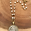 Thumbnail: Gold Rim Silver Coin Necklace with Pearl Necklace