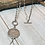 Thumbnail: Coin Necklace with Crystal Teardrop-Wear Long or Short