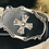 Thumbnail: Celtic cross with black leather belt buckle