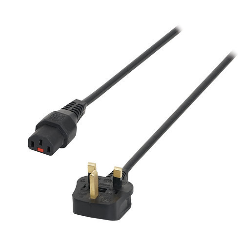 13A – C13 IEC Lock Cable (5A Fuse)