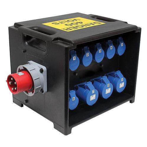 PCE MERZ Distribution Box 63A 3PH RCD/MCB (A81)