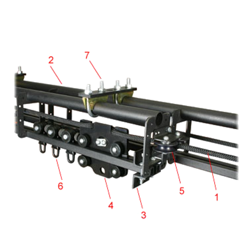 Doughty Line Operated Six Track (Tab Track) Kit with Overlap