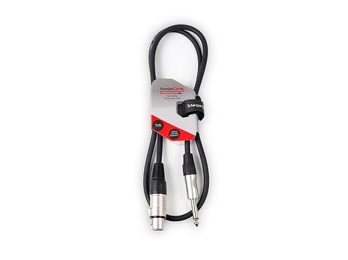 CORE 300 Female XLR - 6.35mm Mono Jack Connector