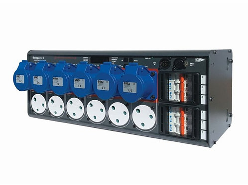 Betapack 4 6x10A DMX Dimmer Pack 6x15a / 6xCEE17 Outlet 4U