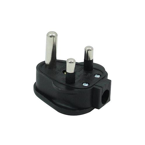 15A HD Round Pin Mains Plug, Black (HDPT15B)