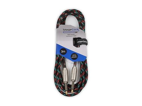 CORE 120 6.35mm Mono Jack Plug - 6.35mm Mono Jack Plug - Vintage Tweed