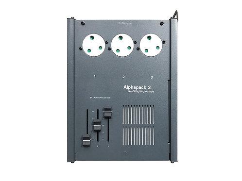 Alphapack 3 Dimmer With 3x15Amp UK Socket Outlet