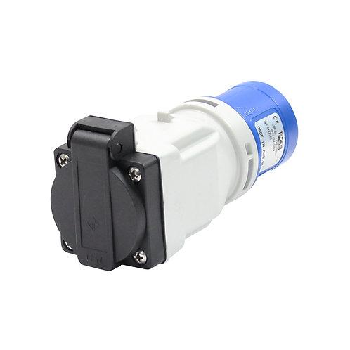 16A 230V 2P+E Plug to 13A Socket Adaptor(9433103)