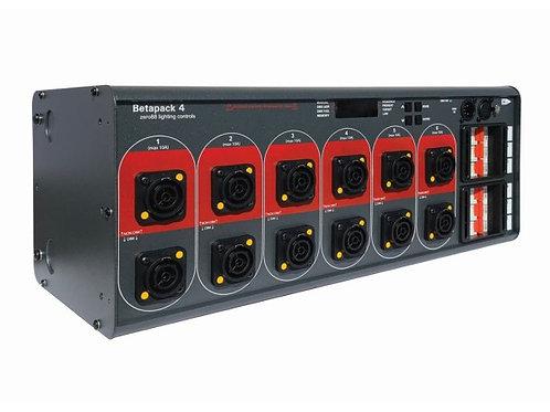 Betapack 4 6x10A DMX Dimmer Pack 12xNeutrik Outlet 4U