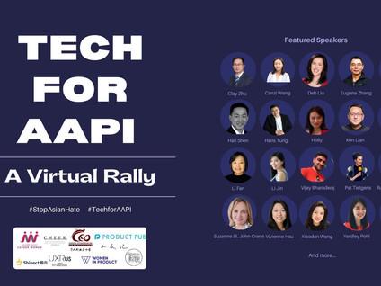 #StopAsianHate #Tech4AAPI Virtual Rally