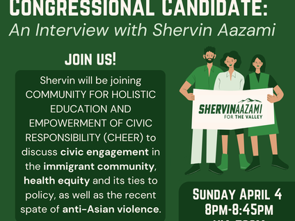 """""""From Immigrant to Congressional Candidate: An Interview with Shervin Aazami"""""""