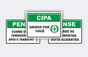 Sinalização de cipa, cipa, placa, sinalização