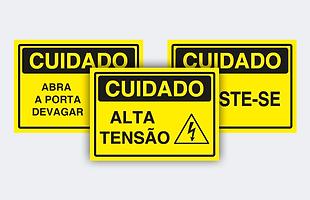 sinalização de cuidado, placa de cuidado