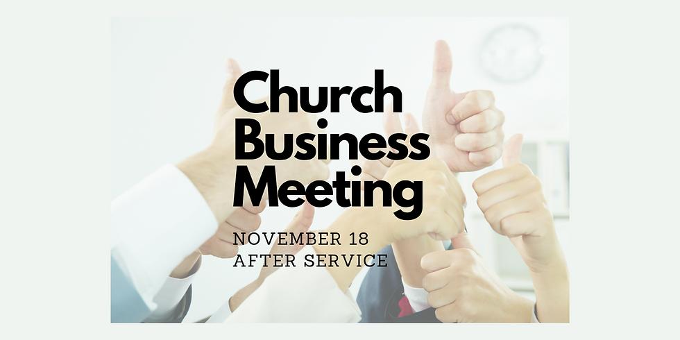 Church Buisness Meeting