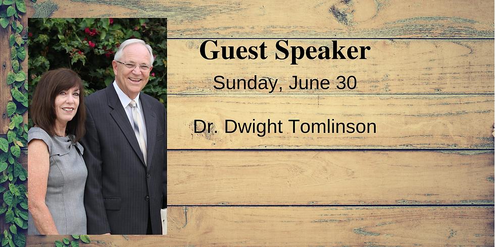 Guest Speaker Dr. Dwight Tomlinson