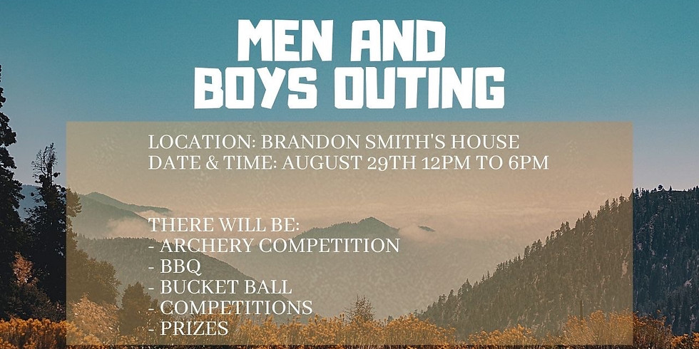 Men and Boys Outing