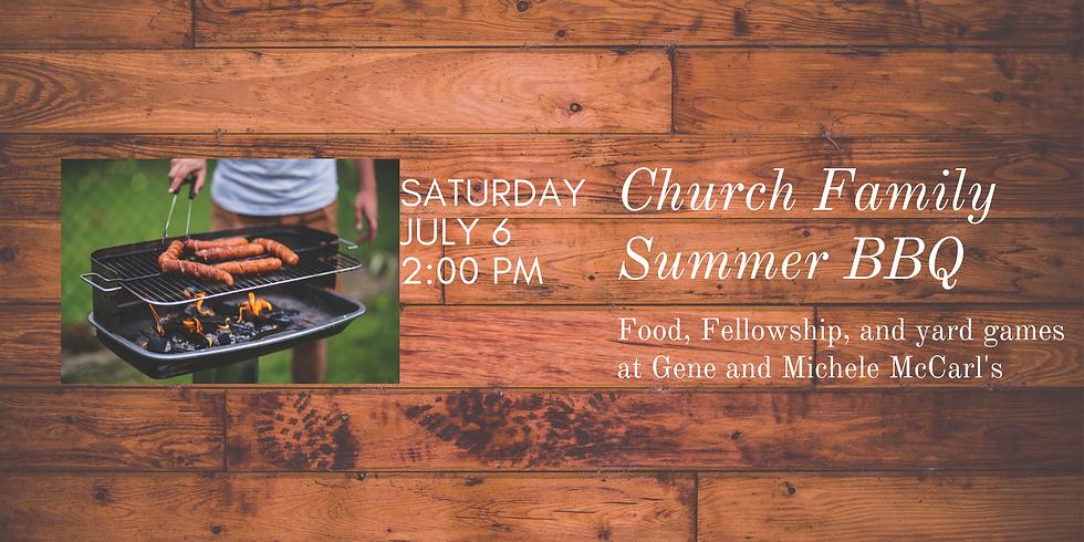 Church Family Summer BBQ