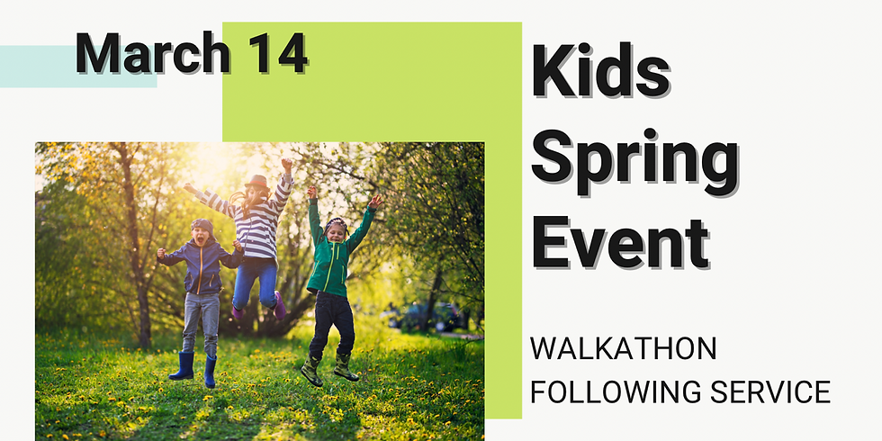 Walk-a-Thon/Kids spring event