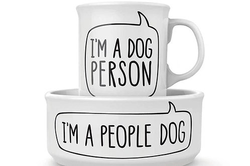 Mug and Dog Bowl I'm a People Dog