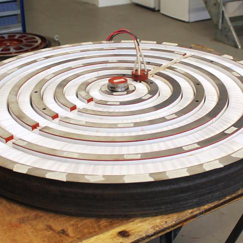 Bobinage d'un plateau magnétique de planeuse