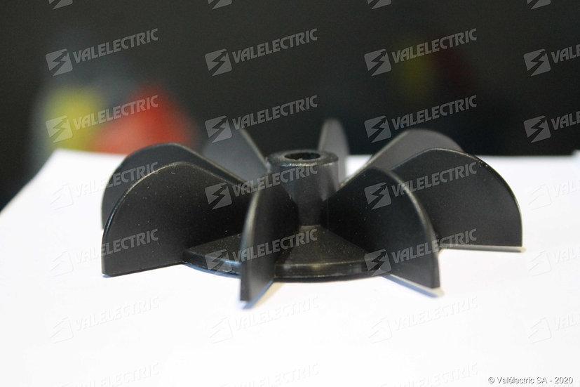 Hélice de ventilation pour bride de serrage - Axe ø8mm - Ext ø87mm