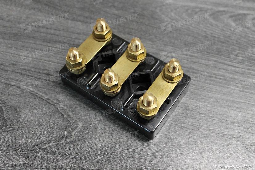 Plaque a bornes M4 - Entre-axe de fixation 16mm - Dim. 44x28mm