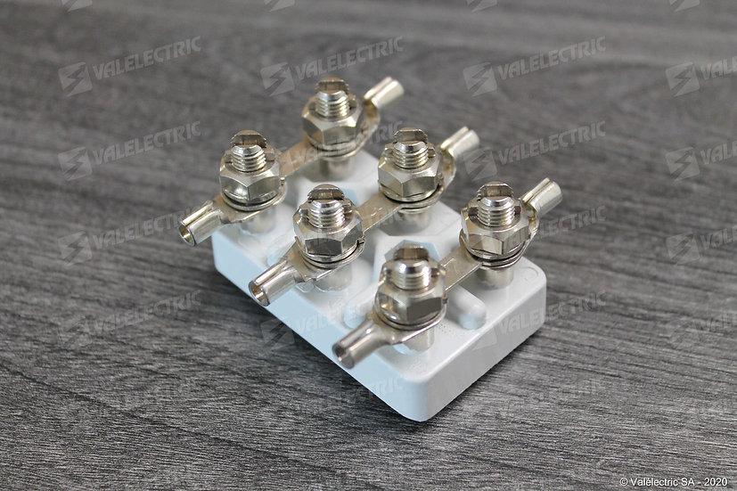 Plaque a bornes antideflagrante DIN EX-2 - Entre-axe de fixation 23mm