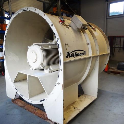 Remplacement d'un moteur 160kW de ventilateur